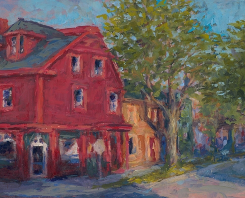 """""""Twilight on Cornwallis and Bauer"""" - oil on wood - Kim Aerts"""