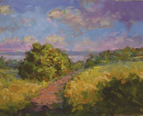 Path to Fundy - oil on wood - Kim Aerts