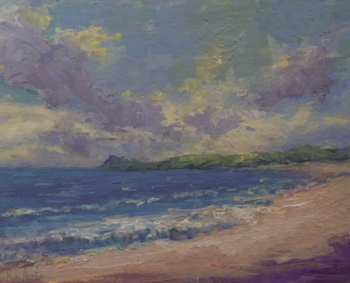 Southshore Afternoon - oil on wood - Kim Aerts