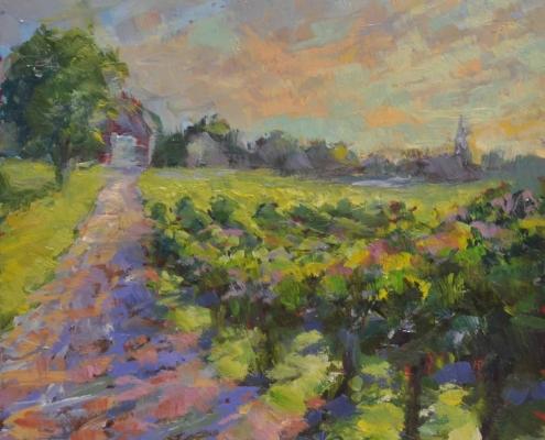 Kim Aerts oil painting - Avonsky Vineyard - 4x4 inches