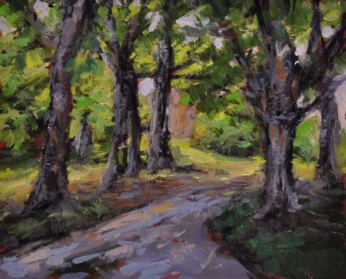 Kim Aerts oil painting - Dark Lane, Avondale - 4x4 inches
