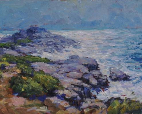 Kim Aerts oil painting - Head of Shad Bay After the Hurricane- 3x5 inches